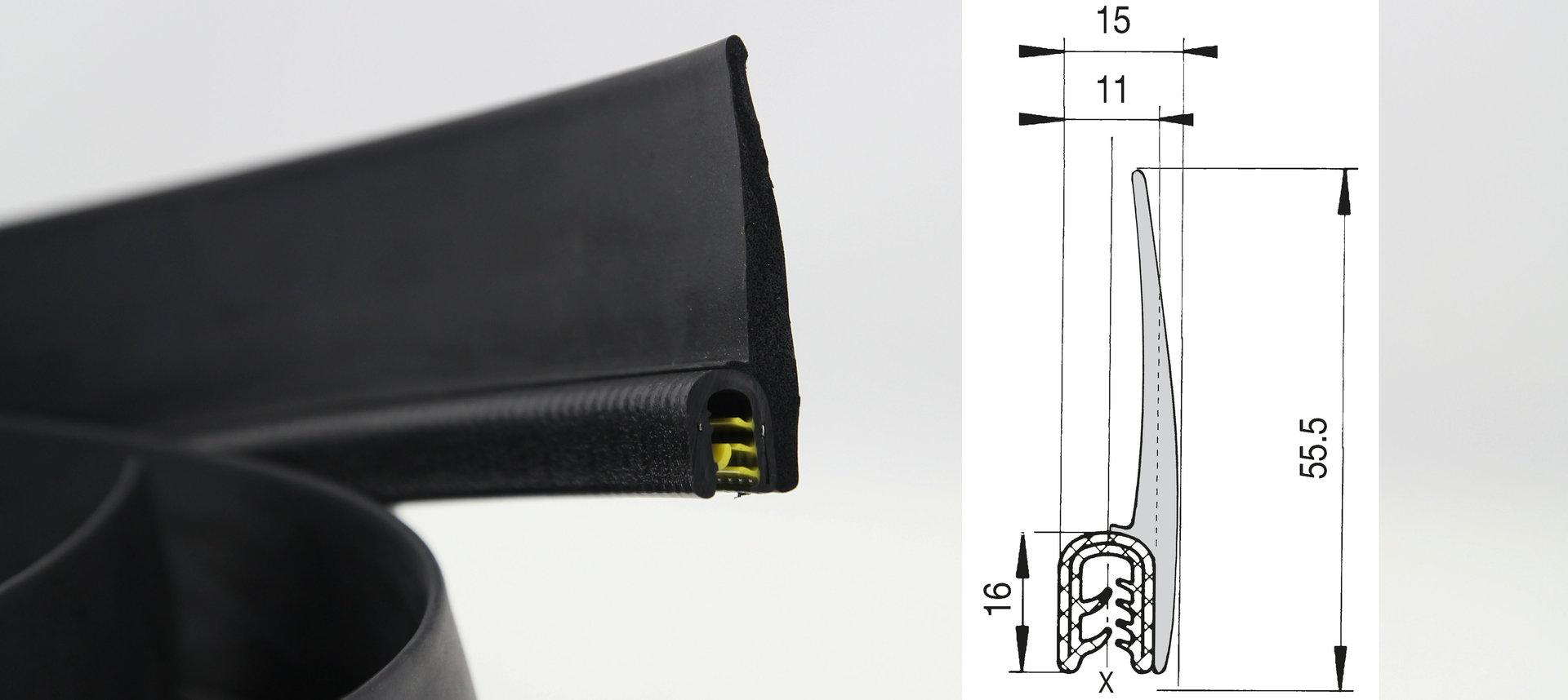 Profil EPDM € 4,55// m Kantenschutz Gummiprofil U 5 mtr.